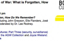 Panel Discussion: Images of war: What is forgotten, How Do We Remember?